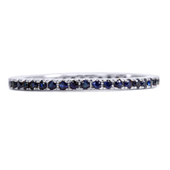 White Diamond Eternity Thread Ring