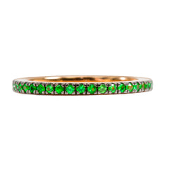 Tsavorite Eternity Thread Ring