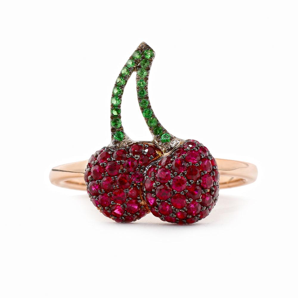 Twin Cherry Ring