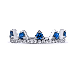 Blue Sapphire Jaws Ring