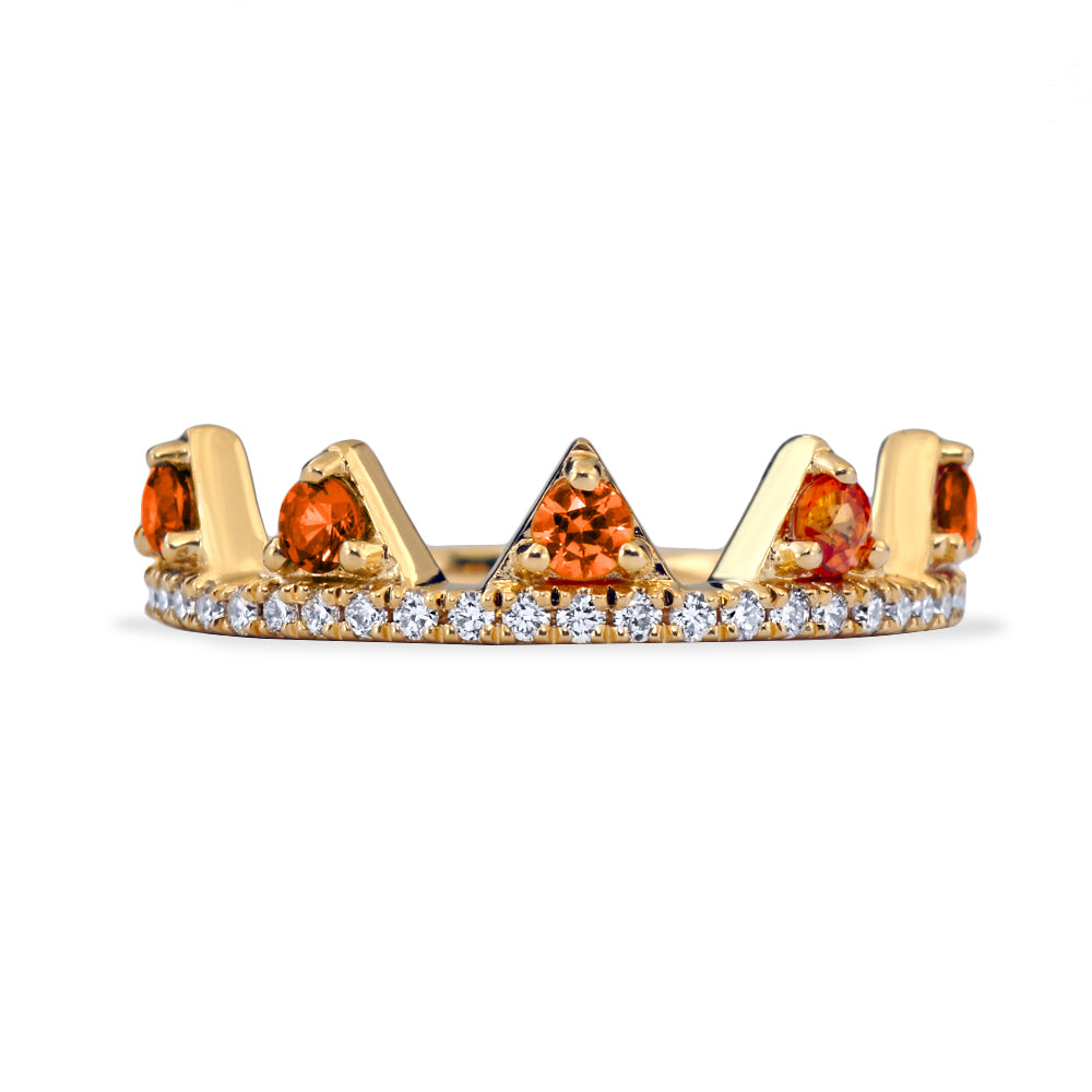 Orange Sapphire Jaws Ring