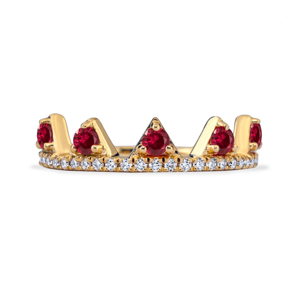 Ruby Jaws Ring