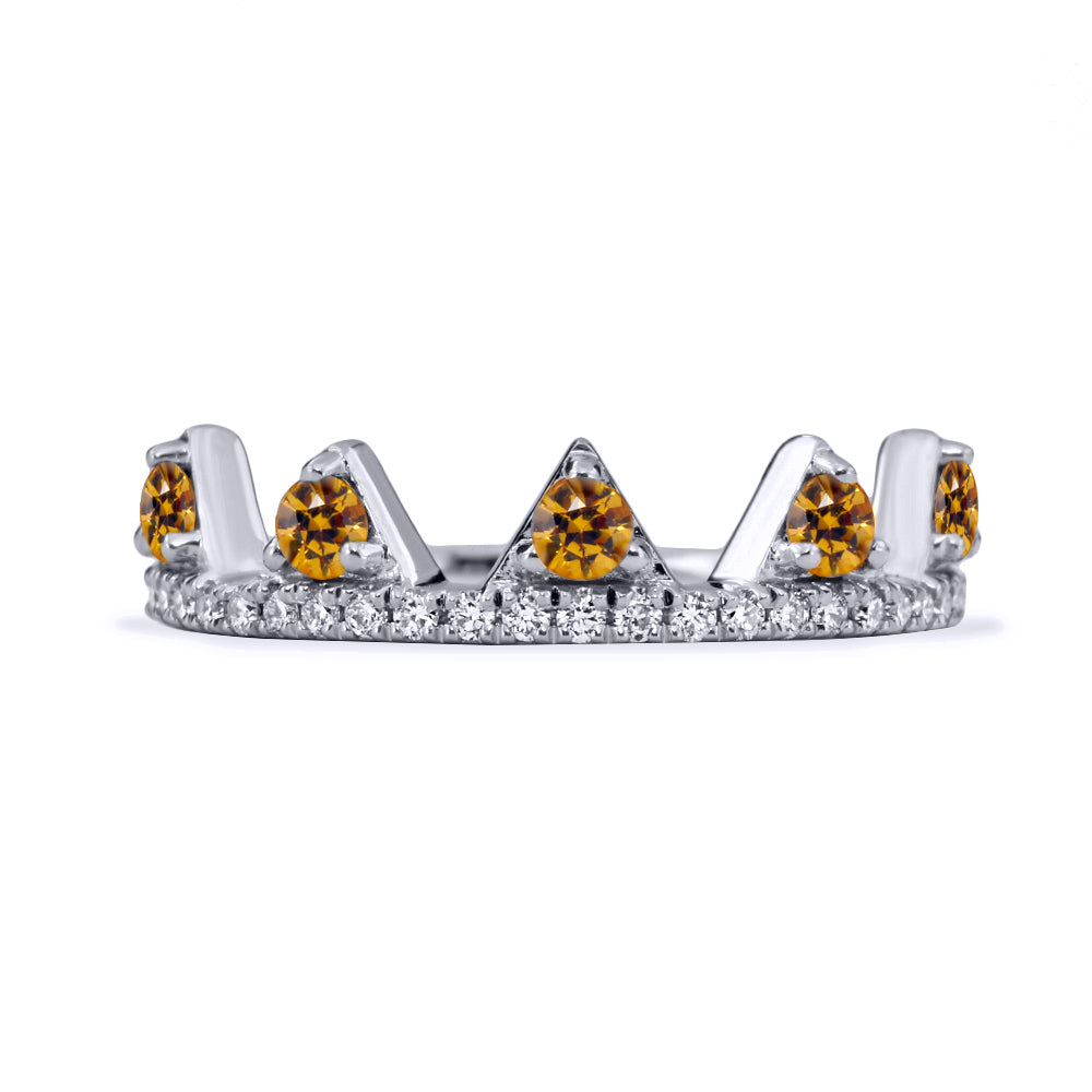 Yellow Sapphire Jaws Ring
