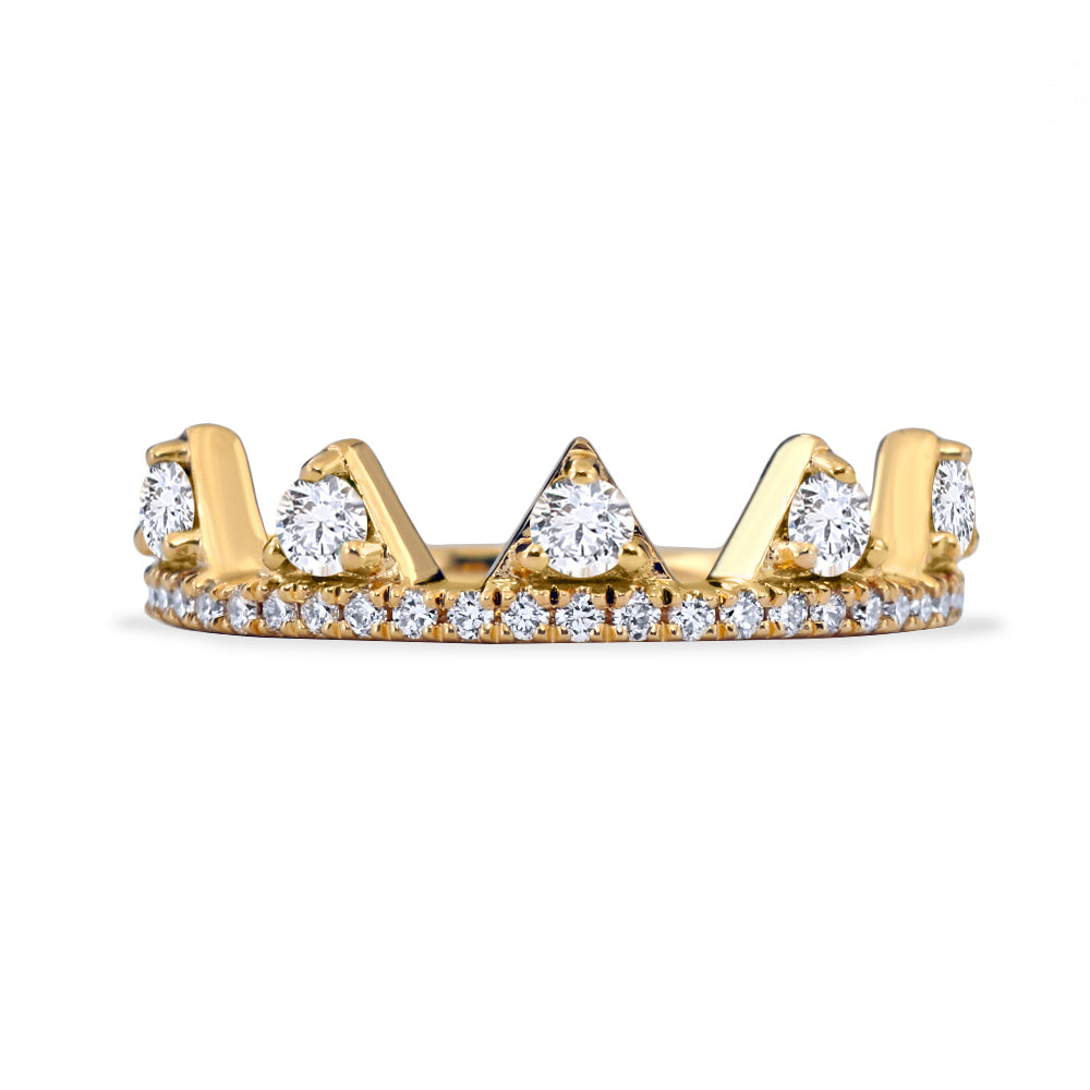 White Diamond Jaws Ring