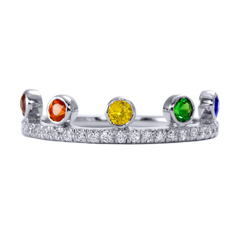 Rainbow Crown Ring