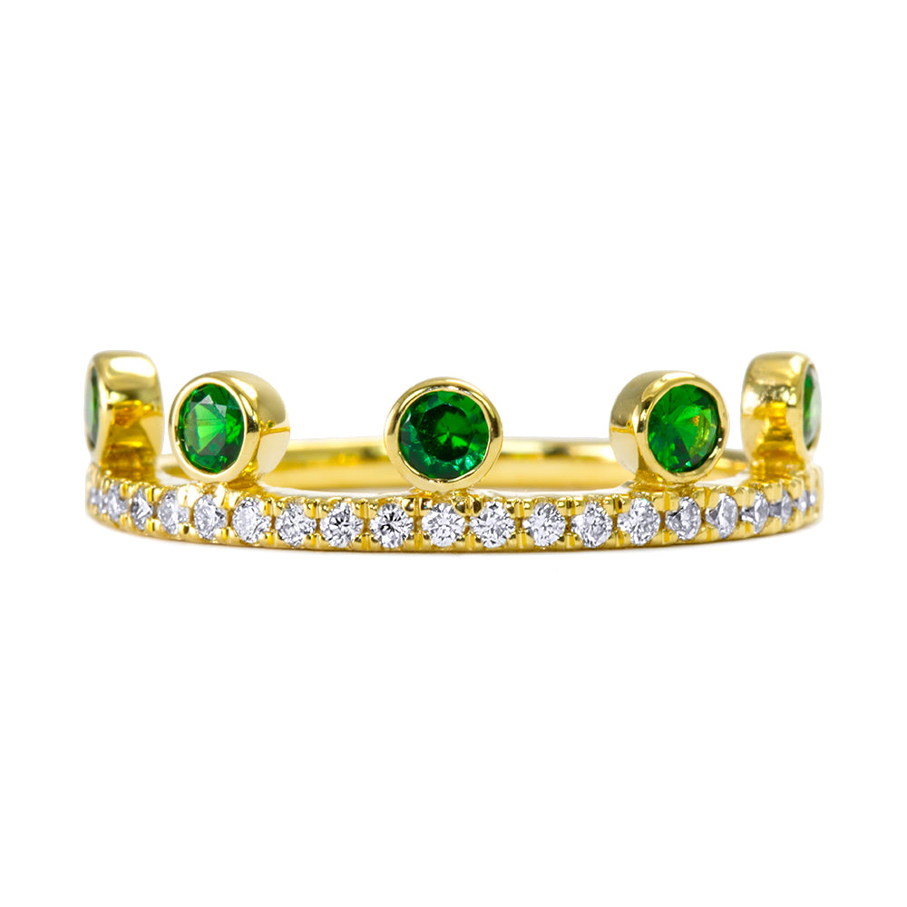 Tsavorite Crown Ring