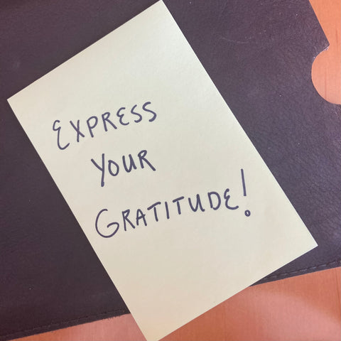 Express your gratitude on a post it note