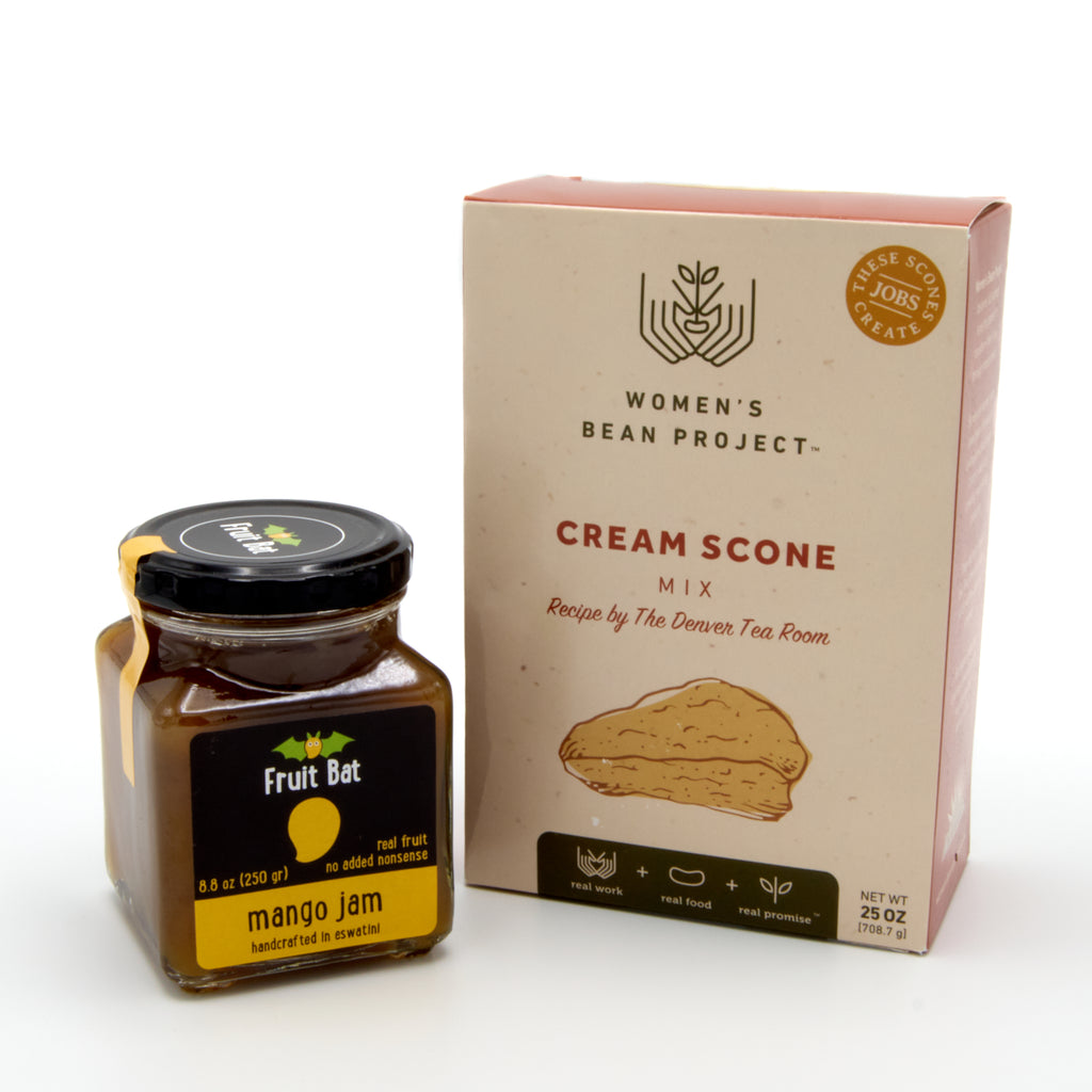 Cream Scone Mix with Mango Jam