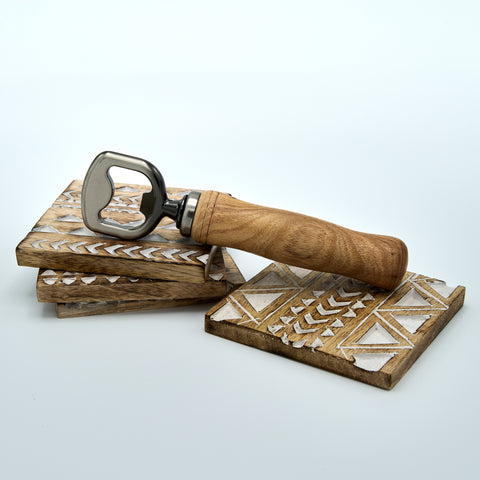Hand Crafted Wooden Coasters and Bottle Opener
