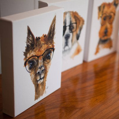 Hipster Sweeties- Gallery Wrapped Canvas