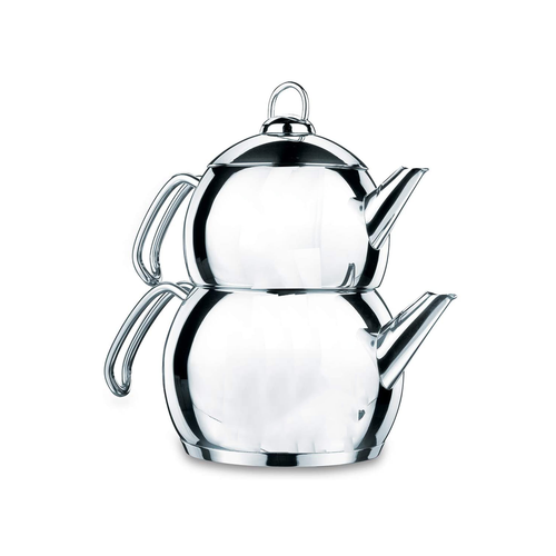 Kork Tombik Stainless Steel Tea Pot Set- 1.1L & 2.0L