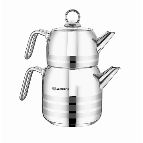 Kork Astra Stainless Steel Tea Pot Set
