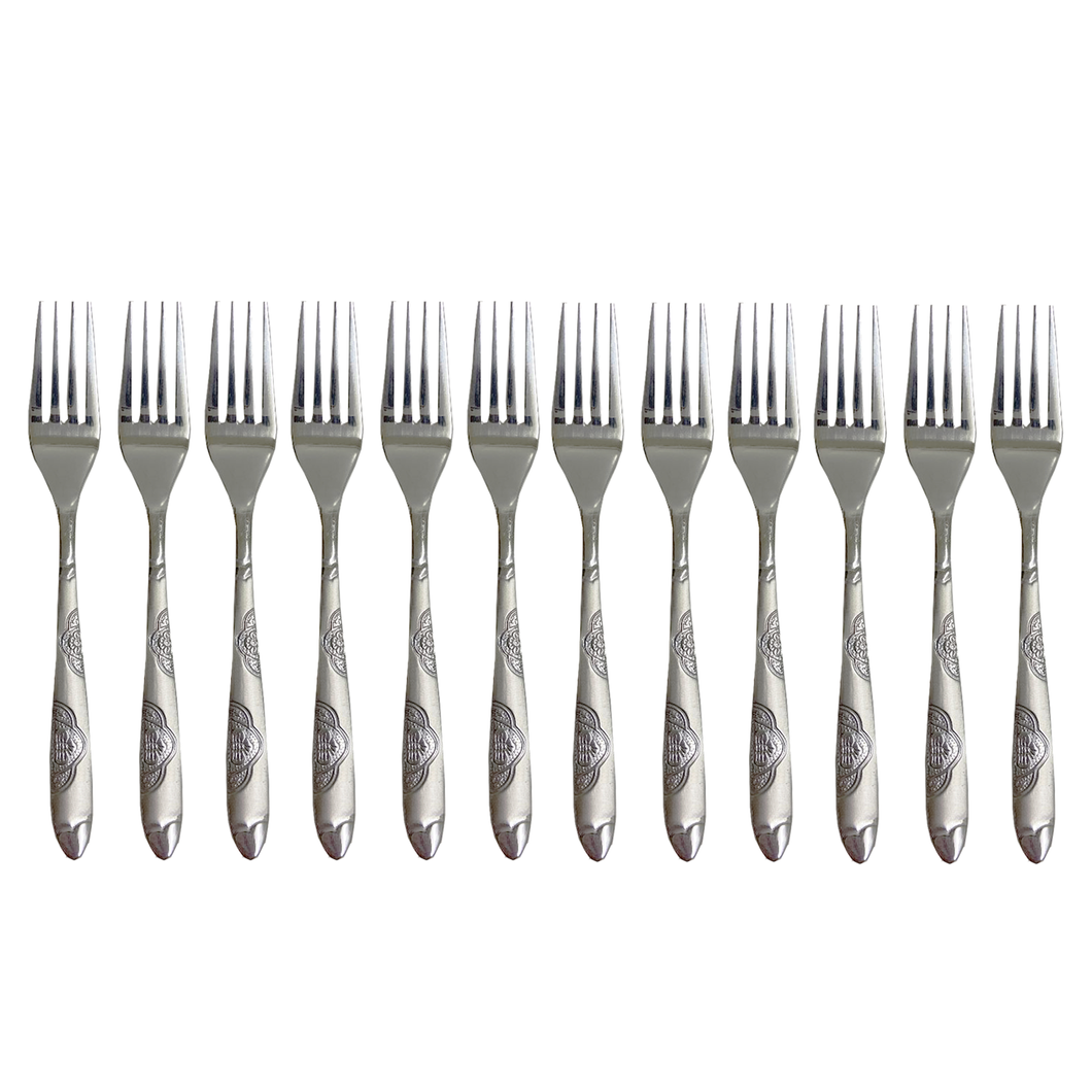 12 PC STAINLESS STEEL TEA FORK