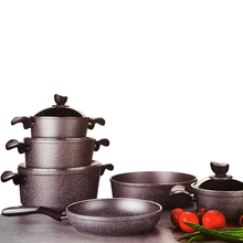 10 PC Non-Stick Aluminum Granite Look Cookware Set