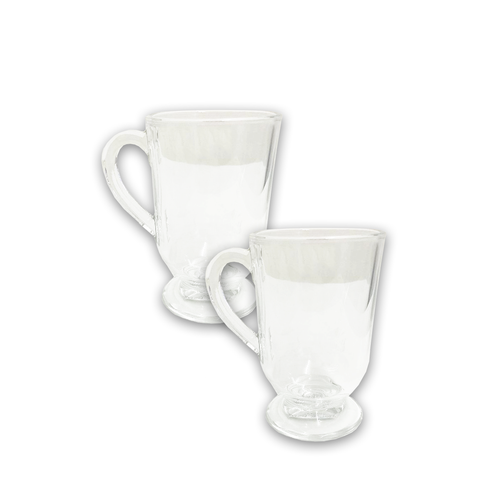 Cappuccino/Tea Glass Cups-(2 Pieces)