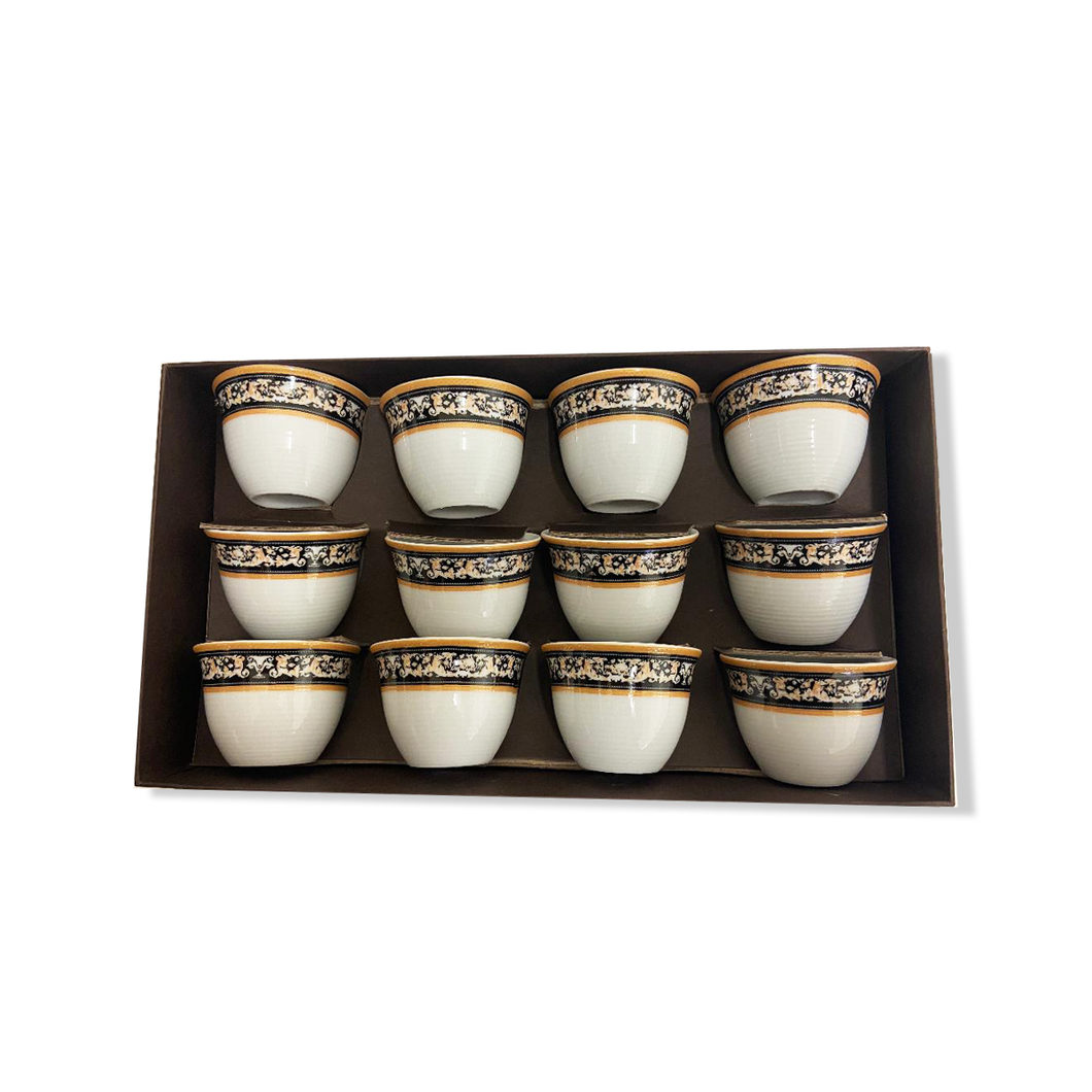 12 Piece Coffee Cup w/ No Handle