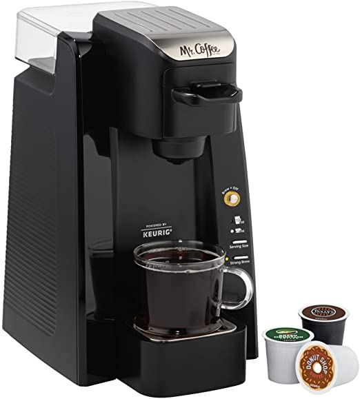 Mr. Coffee-1 Single K-Cup Brewing System, 24 oz, Black