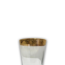 6 PCS GLASS CUPS (VERSACE INSPIRED DESIGN) -GOLD (Tall)