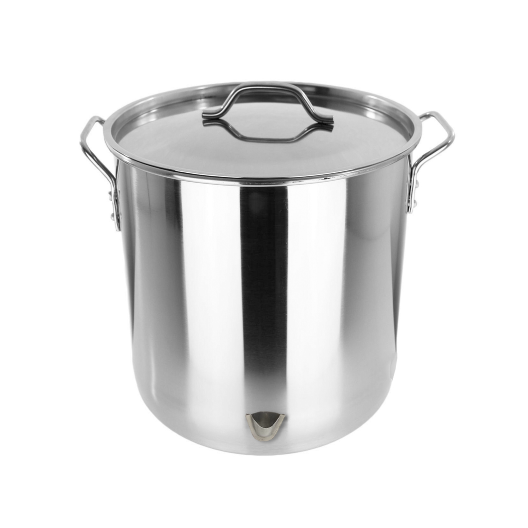 64 Quart Stainless Steel Tamalera Tamales Big Vaporera Stock Pot w/ Steamer & Divider