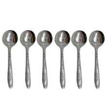 6 PC STAINLESS STEEL SOUP SPOON