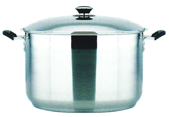 50 QT STAINLESS STEEL 18/10 INDUCTION STOCK POT