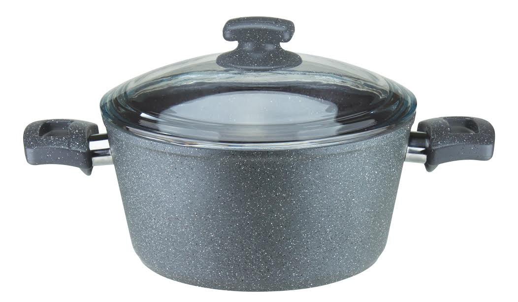 11.1Quart (34cm) Granite Cast Aluminum Deep Pot