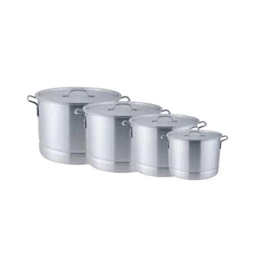 8-Piece Aluminum Short Stock Pot Set w/ Steamer