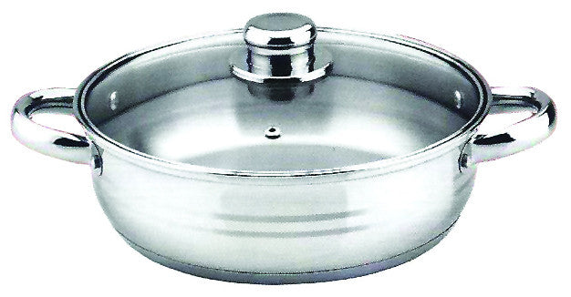 8 QT STAINLESS STEEL 18/10 INDUCTION LOW POT