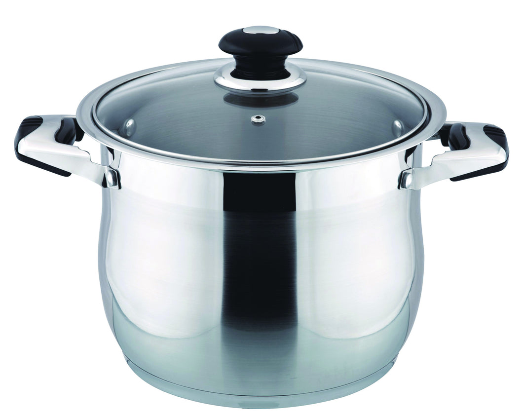 24 QT STAINLESS STEEL 18/10 INDUCTION STOCK POT