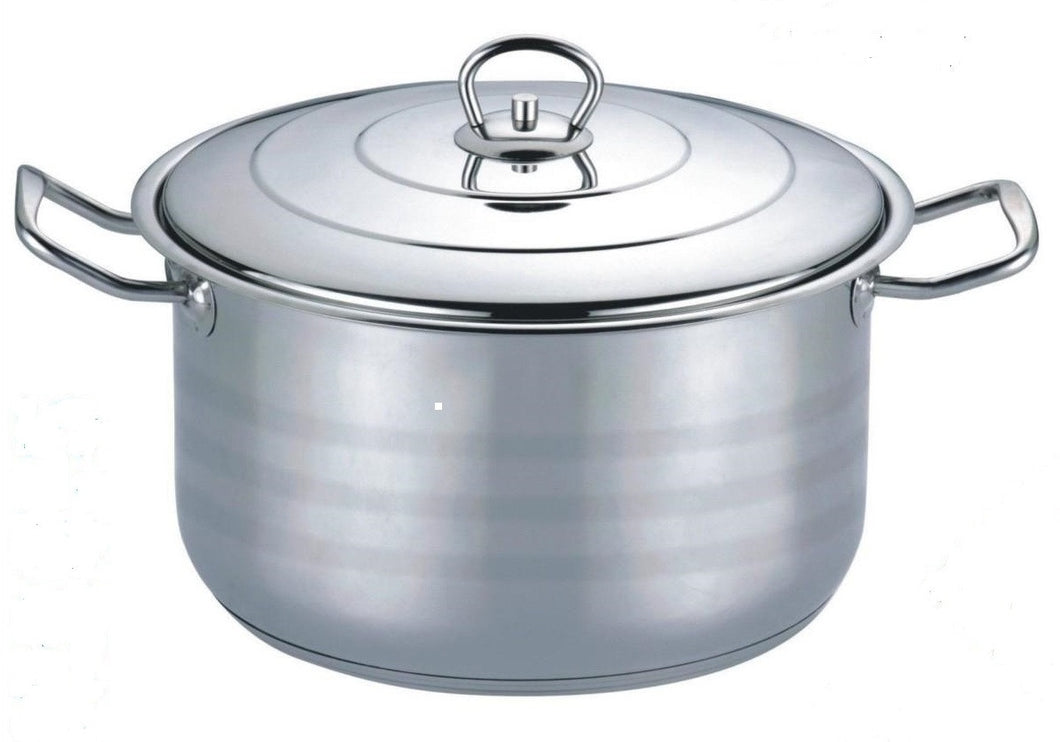 25 QT STAINLESS STEEL 18/10 INDUCTION STOCK POT