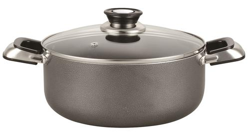 6 Qt Non stick stock pot W/ Glass Cover