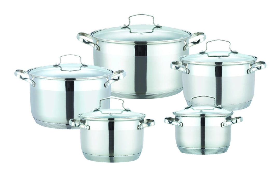 10 PC POT STAINLESS STEEL 18/10 INDUCTION