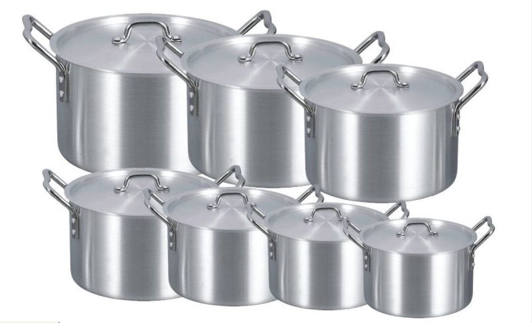 14 PC ALUMINUM STOCK POT W/ COVER