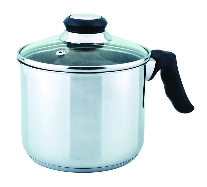 MILK POT 2 QT STAINLESS STEEL