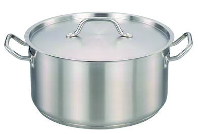 45 QT STAINLESS STEEL INDUCTION 18/10 STOCK POT