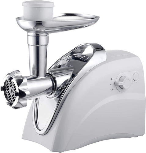 Brentwood Electric Meat Grinder, Sausage Stuffer, White