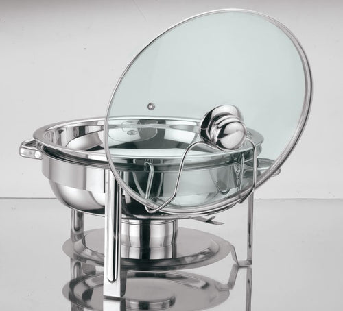 4.5 QT ROUND CHAFING DISH STAINLESS STEEL CATERING