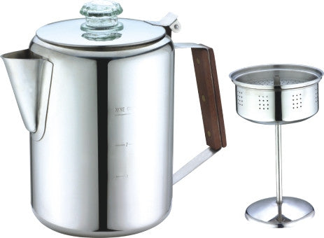 6 CUP TURKISH STAINLESS STEEL COFFEE PECULATOR
