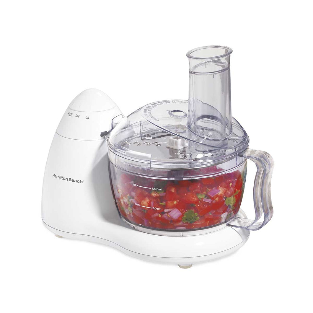 Hamilton Beach 8-Cup Food Processor with 2 Speeds plus Pulse, White