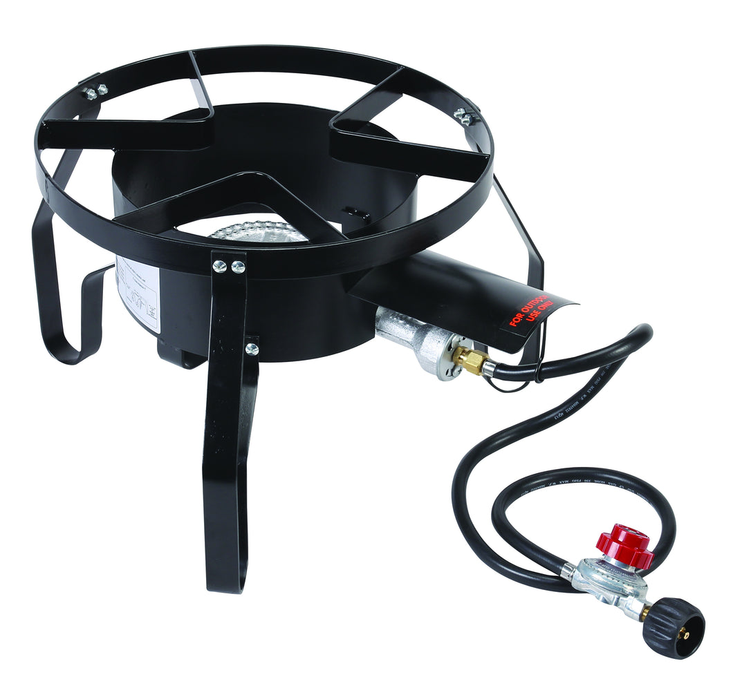 SINGLE HIGH PRESSURE  PROPANE GAS BURNER OUT DOOR W/ REGULATOR