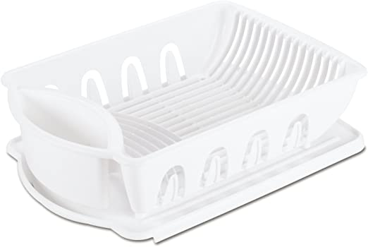 Sink Dish Rack Drainer, White
