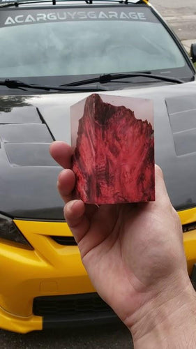 Cloudy Red Resin