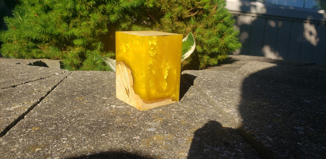 Yellow 2 Resin Block