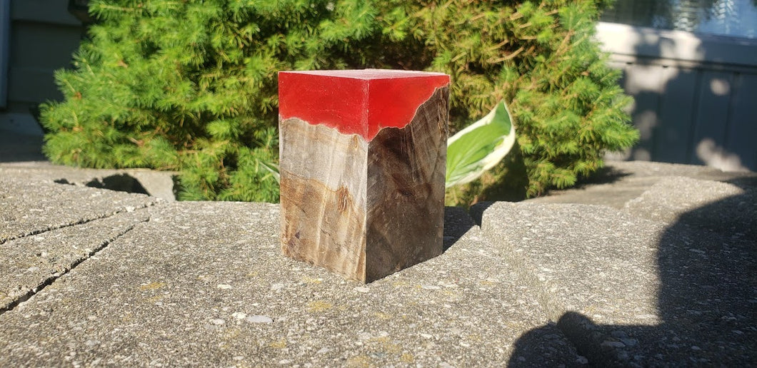 Translucent Red Resin Block
