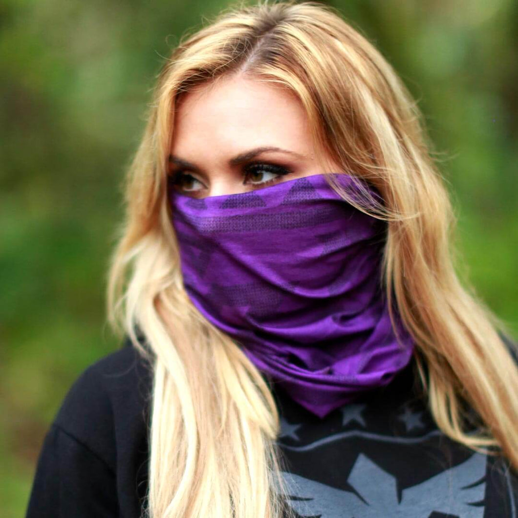Aztec Dark Purple Face Shield