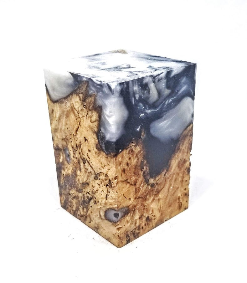 Black and White Marble Resin