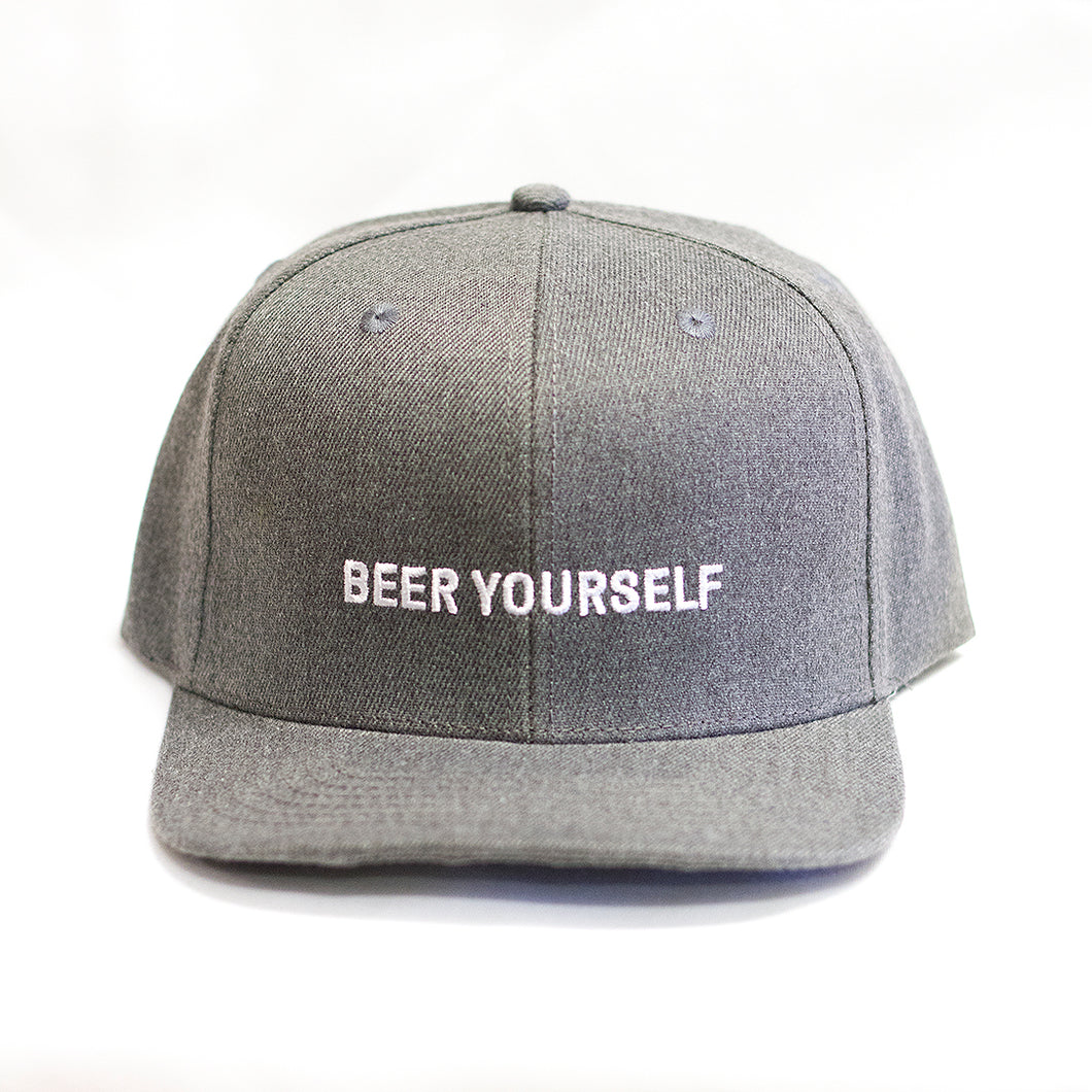 Grey 'Beer Yourself' hat