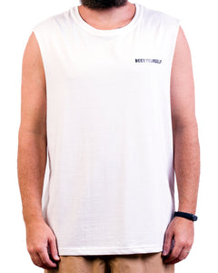 White 'Beer Yourself' Singlet
