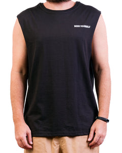 Black 'Beer Yourself' Singlet