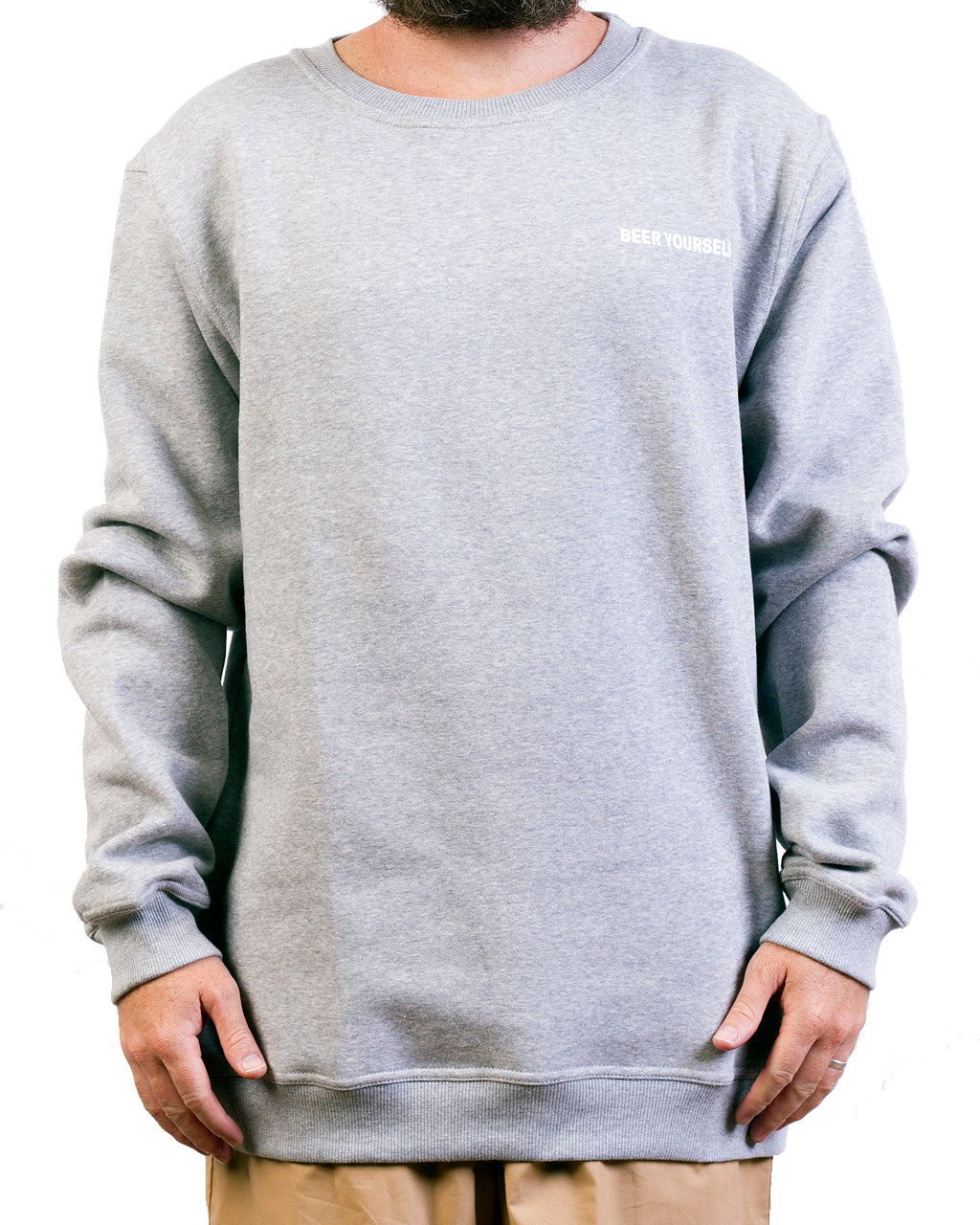 Grey Logo Crew Neck